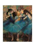 Dancers in Blue (Danseuses Bleues) Giclee Print by Edgar Degas