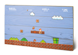 Super Mario Bros. 1-1 Wood Sign Targa di legno