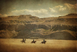Wild Wild West Stretched Canvas Print by Roberta Murray