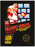 Super Mario Bros. - NES Cover Affiche originale