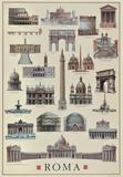 Architettura Roma Plakat