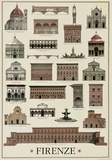 Architettura Firenze Plakater