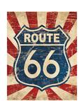 Route 66 I Giclée-Premiumdruck von N. Harbick