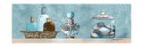 Blue Bath Panel II Premium Giclée-tryk af Gregory Gorham