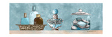 Blue Bath Panel II Premium Giclee Print by Gregory Gorham
