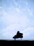 Piano Fotoprint van Gary Waters