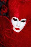 White and Red Mask Photographic Print by Ursula Kuprat