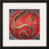 Dragon (detail) Poster por Katsushika Hokusai