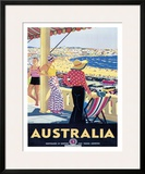 Australia Beach c.1929 Framed Giclee Print by Percy Trompf