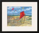 Beach Kites Red Posters por Paul Brent
