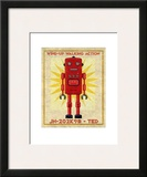 Ted Box Art Robot Posters por John Golden