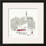 World Cafel IV - Venice Red Poster por Avery Tillmon