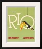 Braniff Air Rio c.1960s Framed Giclee Print