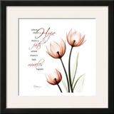 Swaying Tulips Pink, Hope Prints by Albert Koetsier