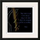 Neon Square Music Quote Print by Suzanne Foschino