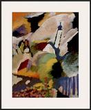 Kirche in Murnau, 1910 Pôsters por Wassily Kandinsky
