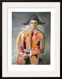 Arlequin, Les Mains Croisee, 1923 Posters por Pablo Picasso