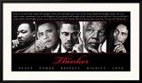 Thinker (Quintet): Peace, Power, Respect, Dignity, Love Prints