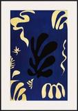 Composition Fond Bleu Print by Henri Matisse