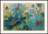Peacock Garden Prints by Silvia Vassileva