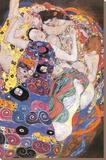 Jungfrun Sträckt kanvastryck av Gustav Klimt