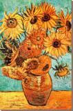 Vincent Van Gogh Vase with Twelve Sunflowers Art Print Poster Stretched Canvas Print