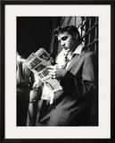 Elvis Presley Reading Sunday Mirror Poster