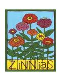 Zinnias, 2004 Impressão giclée por Megan Moore