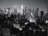 Chrysler Building, Manhattan Night Stretched Canvas Print by Michel Setboun
