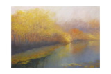 River Gold 2012 Landscape Giclee Print by Lee Campbell