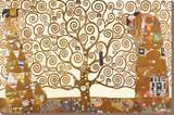 Gustav Klimt - Baum des Lebens Bedruckte aufgespannte Leinwand