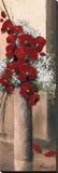 Bouquet d'Orchidées Rouges I Toile tendue sur châssis par Olivier Tramoni