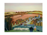 Paisaje de otoño Lámina giclée por Margaret Loxton