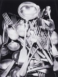 Silver Spoons and Forks Photographic Print by Graeme Harris