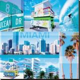 Miami Stretched Canvas Print by  Braun Studio
