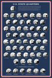 U.S. State Quarters Pôsters