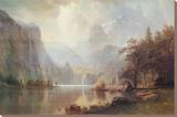 In the Mountains Stretched Canvas Print by Albert Bierstadt