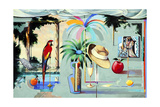 Entertaining the Recluse in the Circus of Dreams (Barbados) Giclee Print by Andrew Hewkin