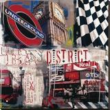 Londoner U-Bahn Bedruckte aufgespannte Leinwand von Vincent Gachaga