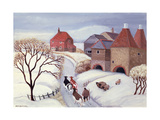Driving Cows Home in the Snow Giclée-vedos tekijänä Margaret Loxton