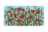 Red Blossoms Impressão giclée por Megan Moore