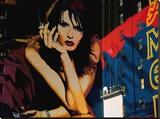 Publicity, Times Square Stretched Canvas Print by Michel Setboun