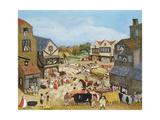 Market Day Giclée-tryk af Margaret Loxton