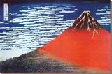 Mount Fuji Kunst op gespannen canvas van Katsushika Hokusai