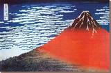 Mount Fuji Stretched Canvas Print by Katsushika Hokusai