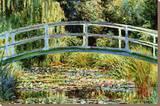 Japansk bro ved Giverny Trykk på strukket lerret av Claude Monet