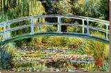Die japanische Brücke in Giverny Bedruckte aufgespannte Leinwand von Claude Monet