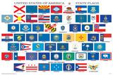 Drapeaux des différents états des États-Unis Affiches