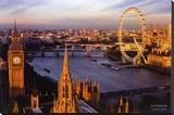 Londres, Inglaterra Reproducción de lámina sobre lienzo