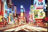 Times Square- New York Stretched Canvas Print